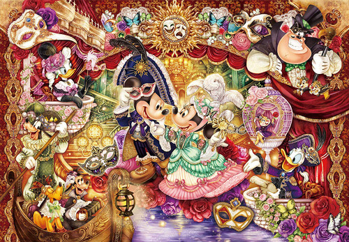 Tenyo Japan Pure White Jigsaw Puzzle DP1000-032 Disney Masquerade (1000 Pieces)