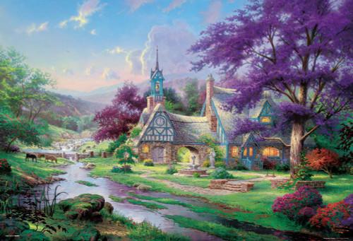 Beverly Jigsaw Puzzle 31-448 Clock Tower Cottage Thomas Kinkade (1000 Pieces)