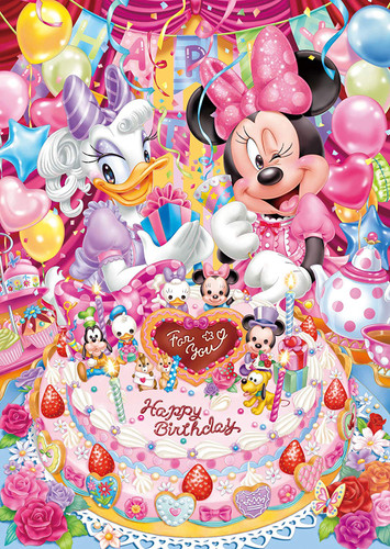 Tenyo Japan Pure White Jigsaw Puzzle DPG266-561 Minnie and Daisy (266 Pieces)