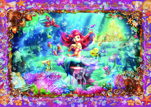 Tenyo Japan Pure White Jigsaw Puzzle DPG266-565 Disney The Little Mermaid Beautiful Mermaid (266 Pieces)