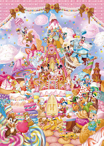 Tenyo Japan Pure White Jigsaw Puzzle DPG266-570 Disney Mickey's Sweet Kingdom (266 Pieces)