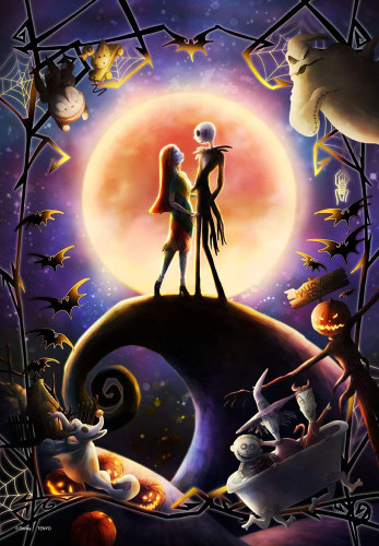 Tenyo Japan Jigsaw Puzzle DPG500-222 Disney Nightmare Before Christmas (500 S-Pieces)