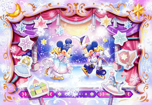 Tenyo Japan Jigsaw Puzzle DPG500-591 Disney Mickey' Ice Show (500 S-Pieces)