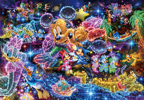 Tenyo Japan Jigsaw Puzzle DPG500-592 Disney Wishing Upon Stars (500 S-Pieces)