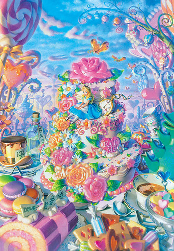 Tenyo Japan Jigsaw Puzzle DPG500-593 Disney Alice in Sweets Land (500 S-Pieces)