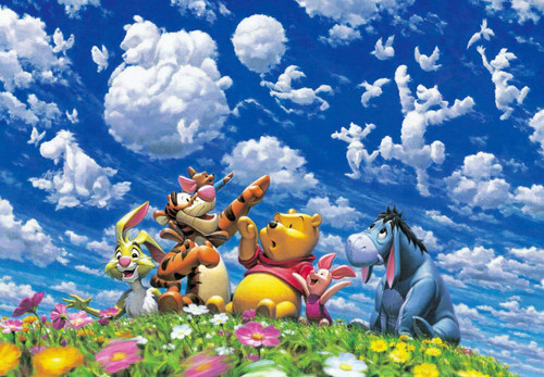 Tenyo Japan Jigsaw Puzzle DPG500-594 Disney Winnie the Pooh Sky Fantasy (500 S-Pieces)