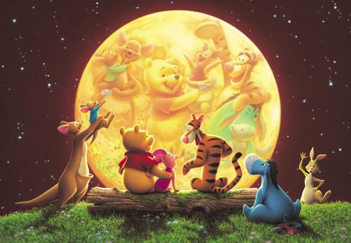 Tenyo Japan Jigsaw Puzzle DSG266-733 Disney Winnie the Pooh Moon Party (266 Pieces)