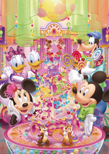 Tenyo Japan Jigsaw Puzzle DSG266-746 Disney Candy Party (266 Pieces)