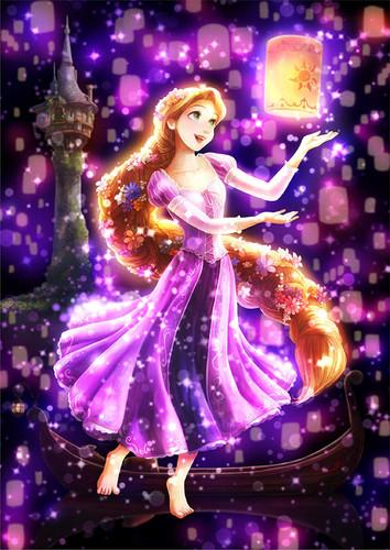 Tenyo Japan Jigsaw Puzzle DSG266-963 Disney Tangled Rapunzel (266 Pieces)