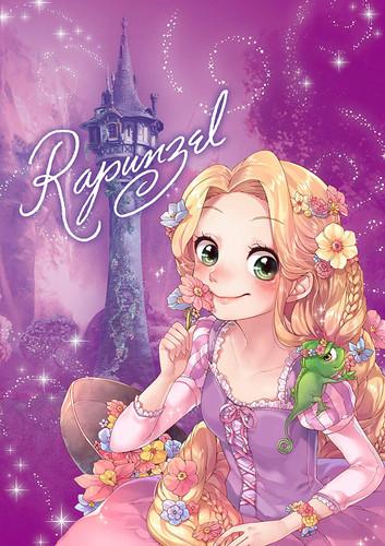 Tenyo Japan Jigsaw Puzzle DSG266B-784 Disney Tangled Rapunzel (266 Pieces)
