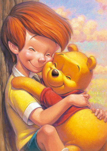 Tenyo Japan Jigsaw Puzzle DSG266B-793 Disney Winnie the Pooh and Christopher Robin (266 Pieces)