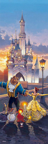 Tenyo Japan Jigsaw Puzzle DSG456-709 Disney Beauty and the Beast Sunset Waltz (456 Pieces)