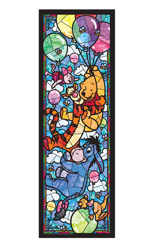 Tenyo Japan Jigsaw Puzzle DSG456-722 Disney Winnie the Pooh Stained Glass (456 Pieces)