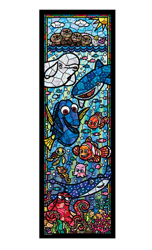 Tenyo Japan Jigsaw Puzzle DSG456-731 Disney Finding Dory Stained Glass (456 Pieces)