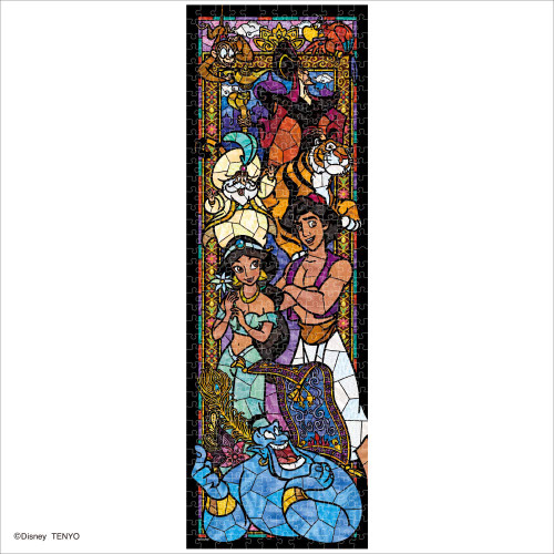 Tenyo Japan Jigsaw Puzzle DSG456-737 Disney Aladdin Stained Glass (456 Pieces)