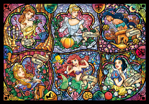 Tenyo Japan Jigsaw Puzzle DSG500-419 Disney Princess (500 Pieces)