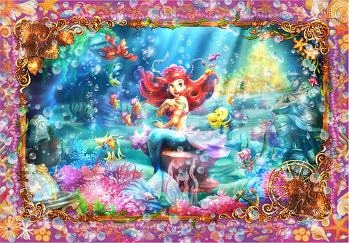 Tenyo Japan Jigsaw Puzzle DSG500-465 Disney The Little Mermaid Ariel Beautiful Mermaid (500 Pieces)