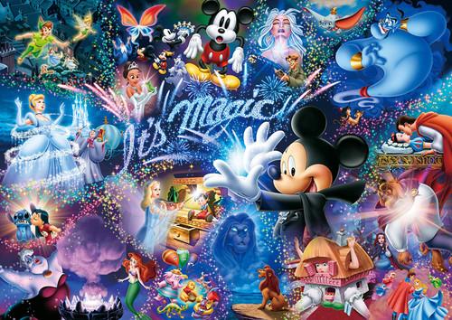 Tenyo Japan Jigsaw Puzzle DW1000-414 Glow in the Dark Disney It's Magic (1000 S-Pieces)