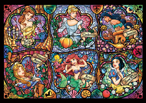 Tenyo Japan Jigsaw Puzzle DW1000-433 Disney Brilliant Princess (1000 S-Pieces)