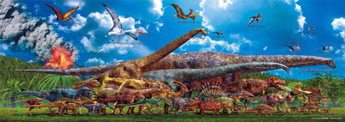 Beverly Jigsaw Puzzle 33-167 The Animal Book (Size Comparison of dinosaurs)  (352 Pieces)