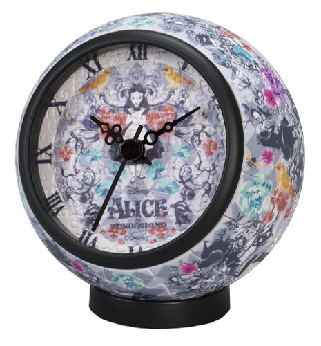 Yanoman 2401-03 Puzzle Clock Alice in Wonderland (145 Pieces)