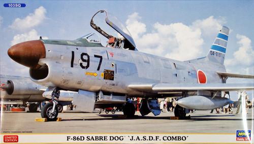 Hasegawa 02018 F-86D Sabre Dog JASDF COMBO 1/72 Scale Kit