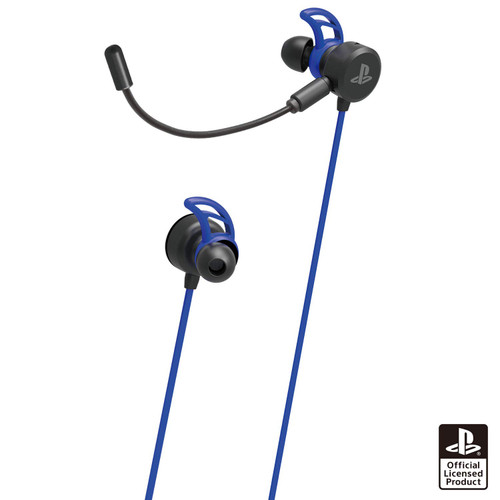 Hori PS4 PlayStation 4 Gaming In-Ear Headset (Blue) JTK-4961818031593