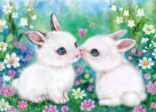 Beverly Jigsaw Puzzle 66-131 Kayomi Harai Rabbits in Love (600 Pieces)