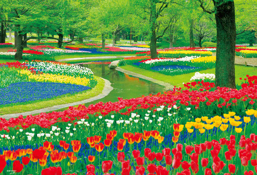 Beverly Jigsaw Puzzle M81-577 Tulip Park (1000 S-Pieces)