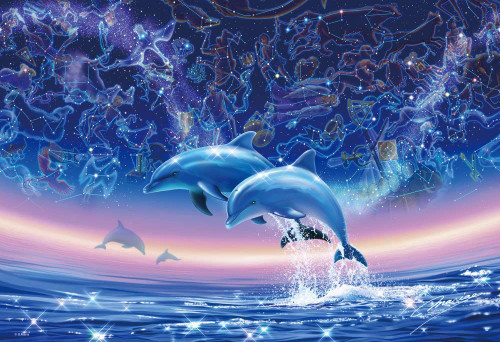 Beverly Jigsaw Puzzle 83-041 Glow in the Dark The Sea of Mythology (300 Pieces)