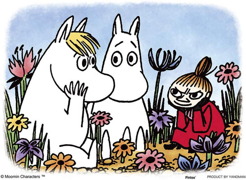 Yanoman Jigsaw Puzzle 2301-30 Moomin Talking in the Flower Field (150 Pieces)