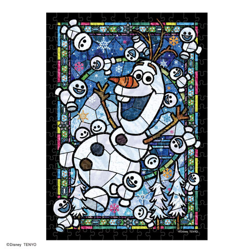 Tenyo Japan Jigsaw Puzzle DSG-266-967 Disney Frozen Olaf Staind Glass (266 Pieces)
