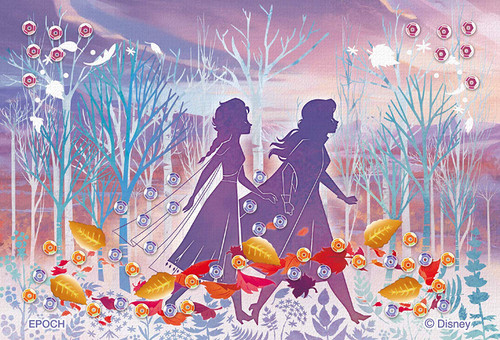 Epoch Jigsaw Puzzle Decoration 70-028 Disney Frozen Elsa and Anna Silhouette (70 Pieces)