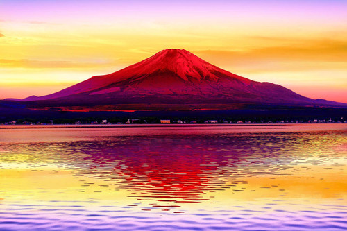 Epoch Jigsaw Puzzle 10-814 Mountain Fuji in Evening Sunlight Japan (1000 Pieces)