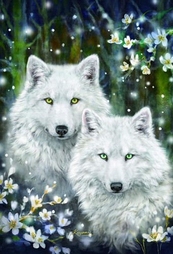 Epoch Jigsaw Puzzle 26-332 Kayomi Harai White Wolves (300 Pieces)