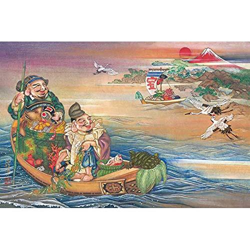 APPLEONE Jigsaw Puzzle 1000-844 Japanese God Ebisu Daikoku Algae Boat (1000 Pieces)