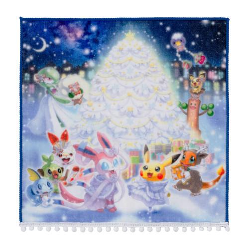 Pokemon Center Original Pokemon Frosty Christmas Hand Towel