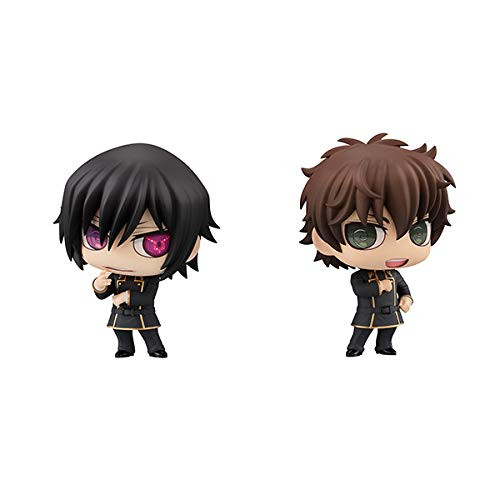 MegaHouse Chimimega Buddy Series Lelouch Lamperouge and Suzaku Kururugi Figure (Code Geass Lelouch of the Rebellion)