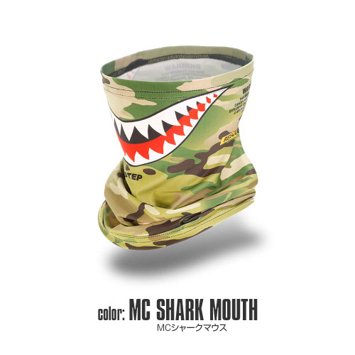 Laylax Satellite Slim Cool Neck Gaiter MC Shark Mouth 159823