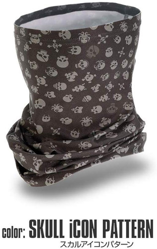 Laylax Satellite Slim Cool Neck Gaiter Skull iCon Pattern 159830