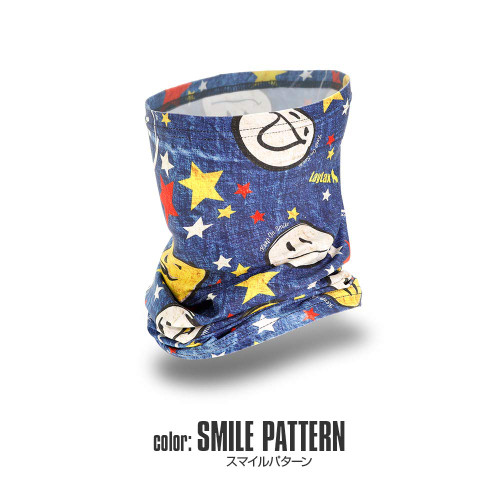 Laylax Satellite Slim Cool Neck Gaiter Smile Pattern 159847
