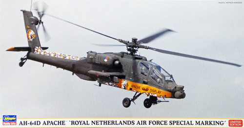 Hasegawa 07336 AH-64D Apache Helicopter Royal Netherlands Air Force 1/48 Scale Kit