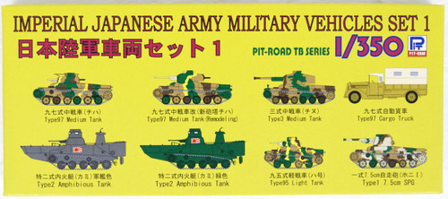Pit-Road TB01 Imperial Japanese Army Military Vehicles Set 1  1/350 Scale Kit