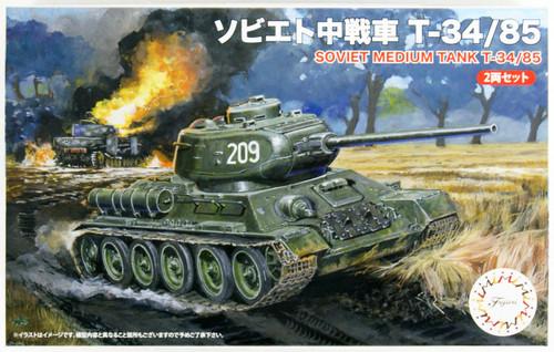 Fujimi SWA-34  Soviet Medium Tank T-34/85 (2pcs) 1/76 scale kit
