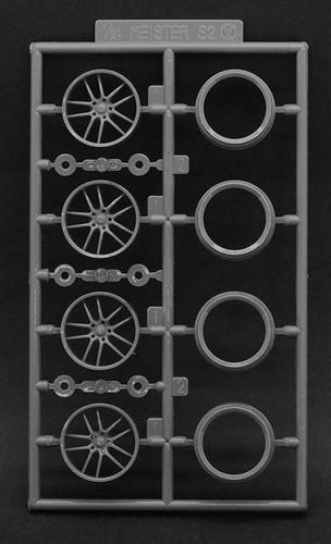 Fujimi 193656 W-105 1/24 Scale Racing Work Meister Emotion 18-inch Wheel