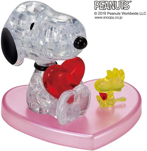 Beverly Crystal 3D Puzzle 50248 Peanuts Snoopy Hugging Heart (31 Pieces)