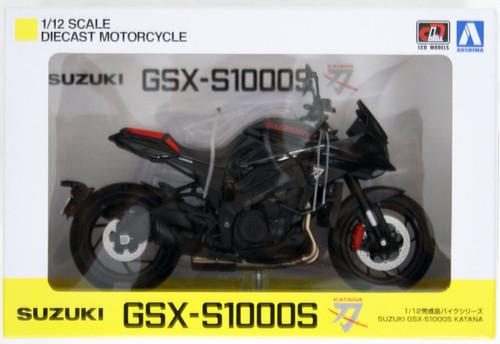 Aoshima Skynet 07027 Suzuki GSX-S1000S Katana Glass Black 1/12 Scale Finished Model