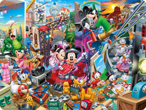 Tenyo Japan Jigsaw Puzzle DL99-698 Disney Mickey's Movie Studio (99 Pieces)