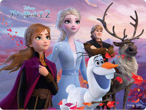 Tenyo Japan Jigsaw Puzzle DL63-697 Disney Frozen2 Secret of the Magic (63 Pieces)