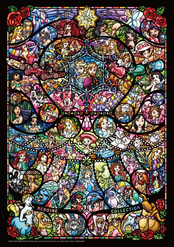 Tenyo Japan Jigsaw Puzzle DW1000-005 Disney Stained Glass Characters Collection (1000 S-Pieces)